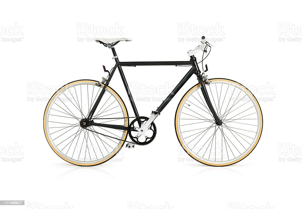 Bicycle with Full Clipping Path stock photo