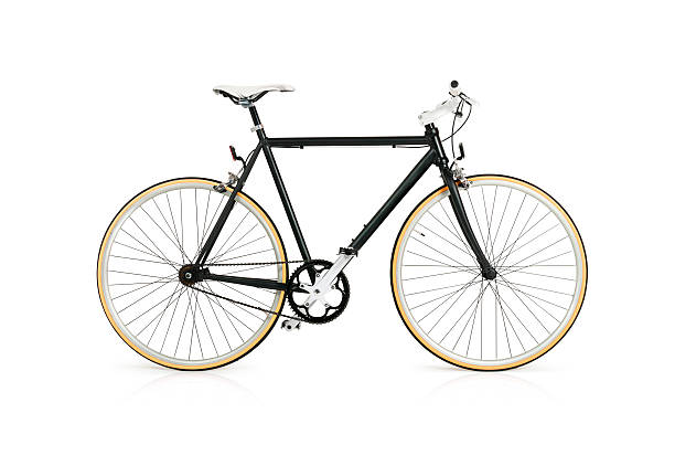 bicycle with full clipping path - cycling stock photos and pictures