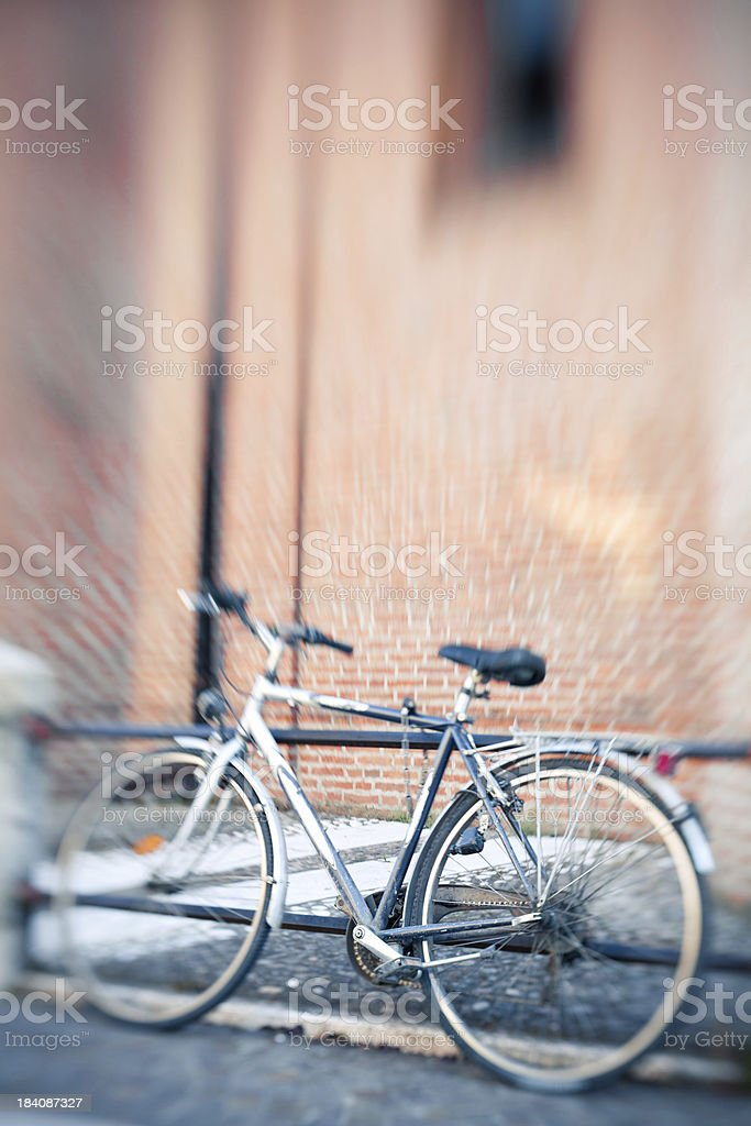Bicycle with lensbaby stock photo