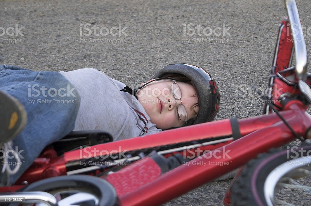Bicycle Wreck royalty-free stock photo