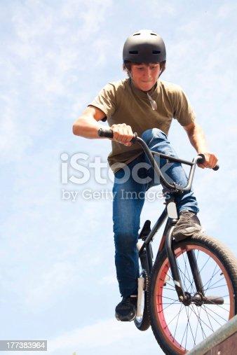 istock BMX bicycler on  ramp 177383964