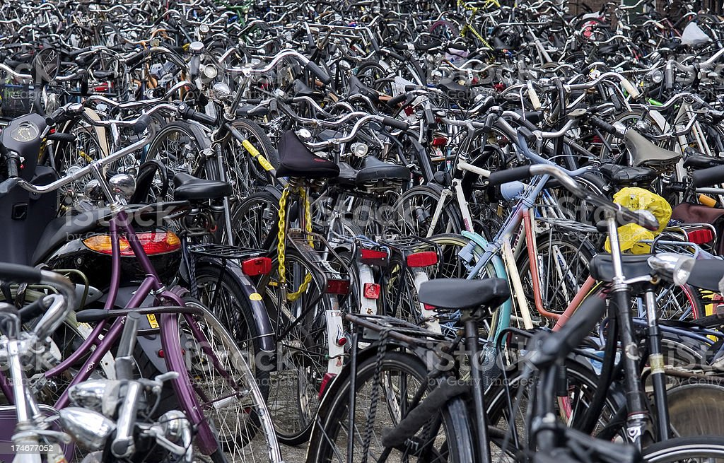Bicycles Everywhere stock photo
