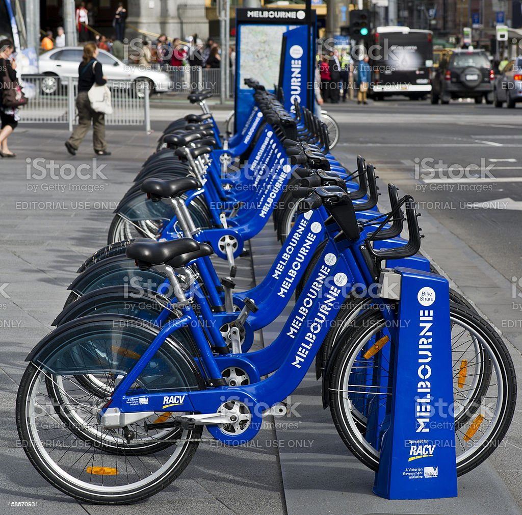 Bicycles for Hire stock photo