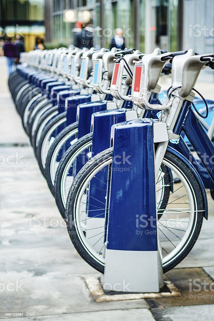 Bicycles for hire royalty-free stock photo