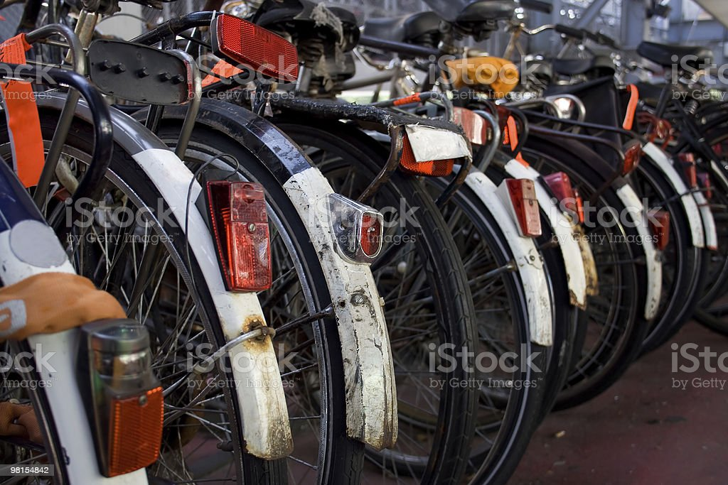Bicycles in Amsterdam royalty-free stock photo