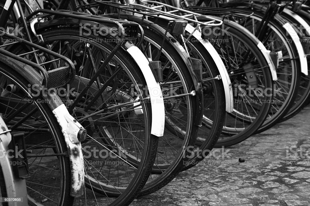 Bicycles in Bruges royalty-free stock photo