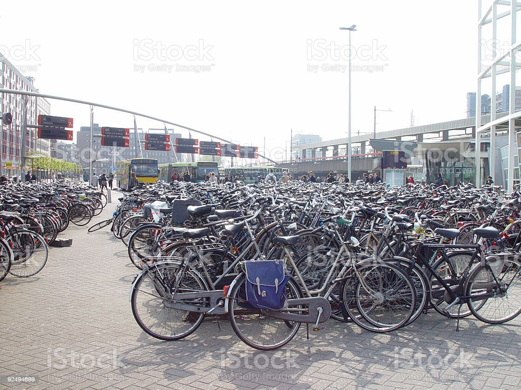 Bicycles in Holland royalty-free stock photo