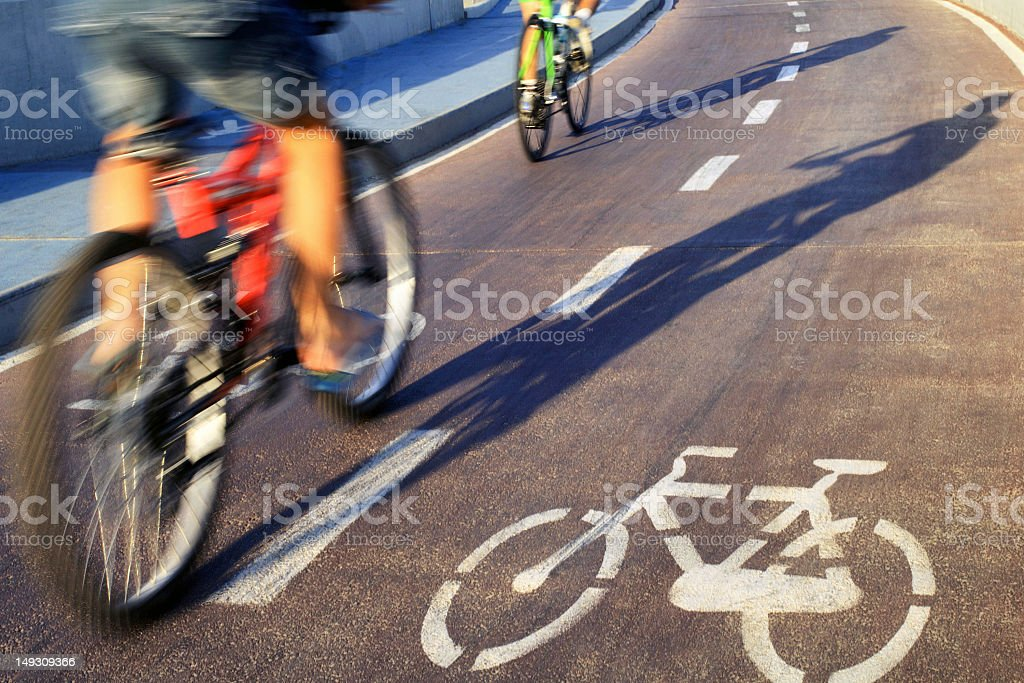 Bicycles In Motion stock photo