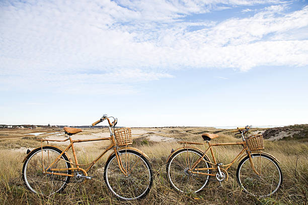 Bicycles near sand dunes  cape cod stock pictures, royalty-free photos & images