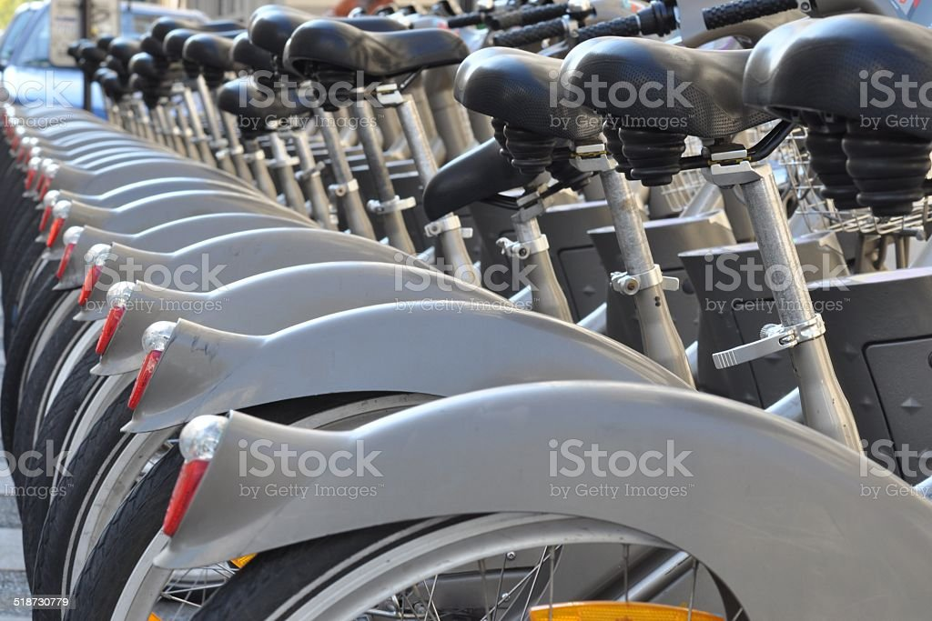 Bicycles on the street stock photo