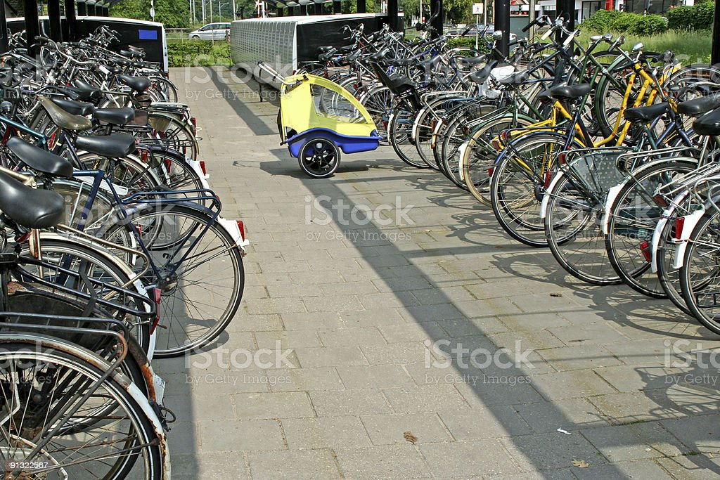 Bicycles parking # 3 royalty-free stock photo