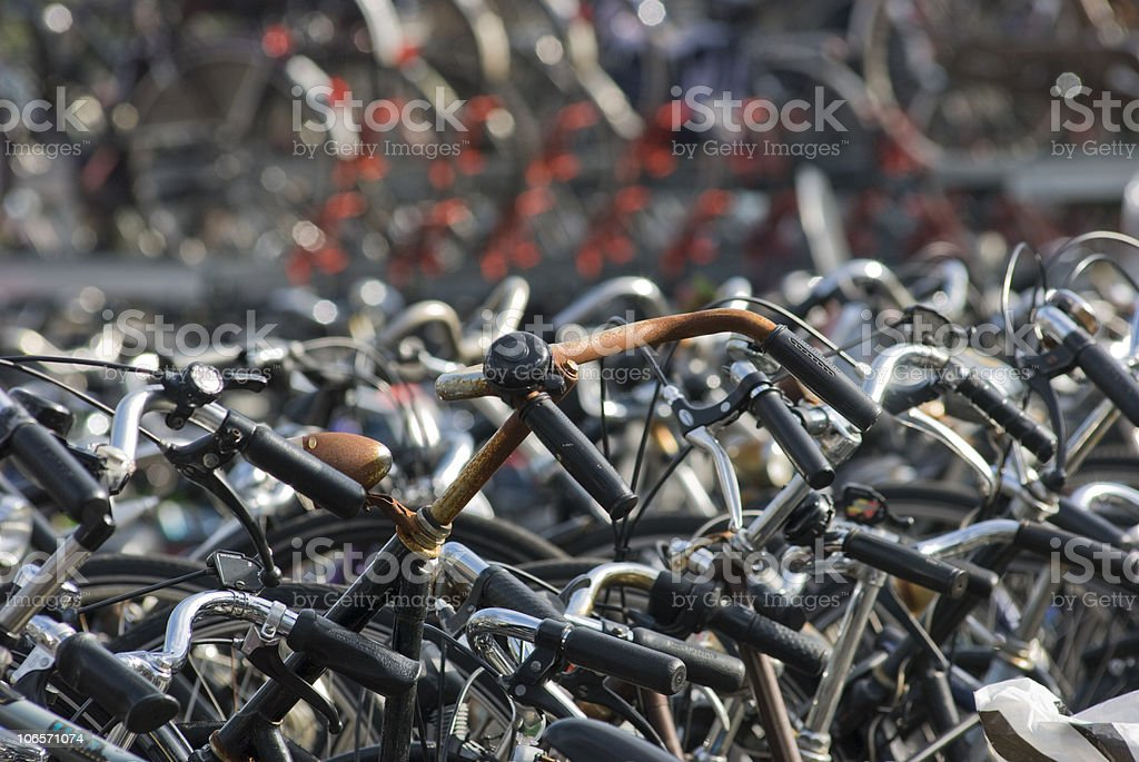 Bicycles; Rusty bike stock photo
