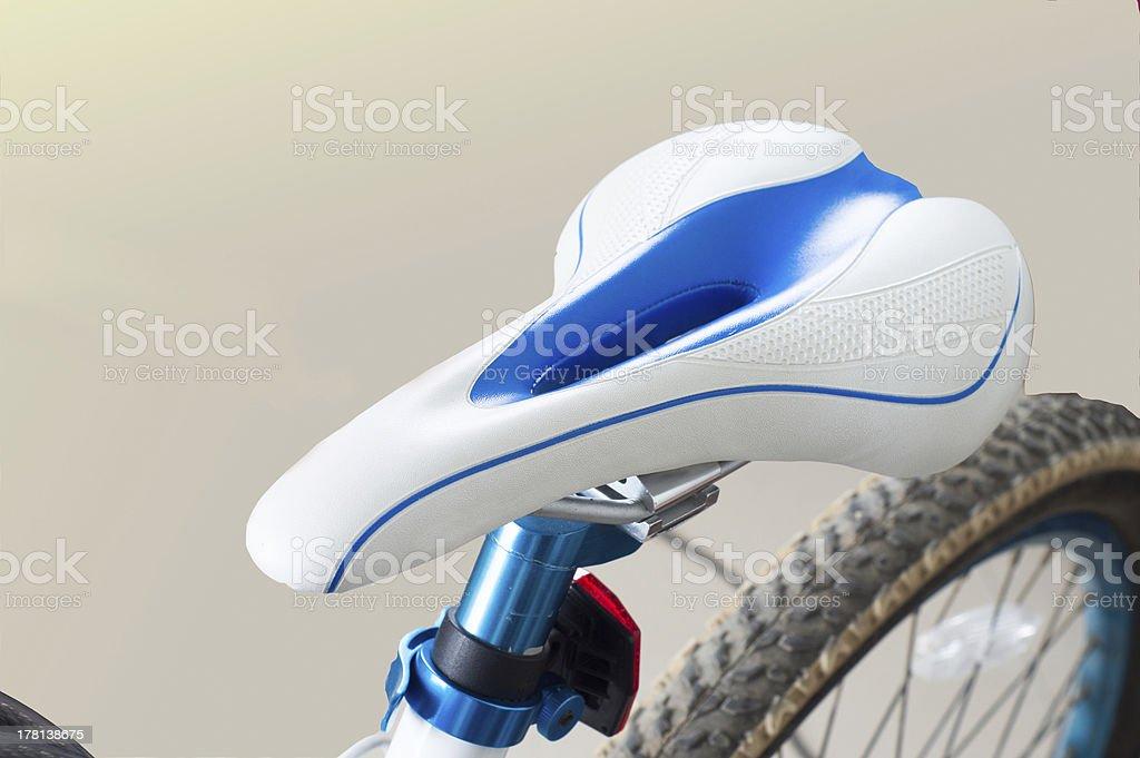 Bicycles seat stock photo