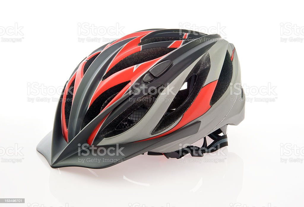Bicycling helmet stock photo