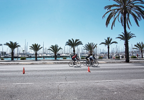 Bicyclists on Paseo Maritimo