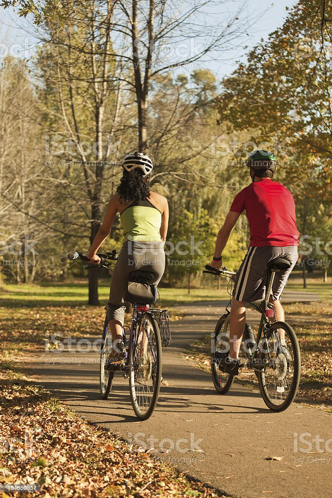 Bicylists Healthy Active Lifestyle of Exercising Outdoor Vt royalty-free stock photo