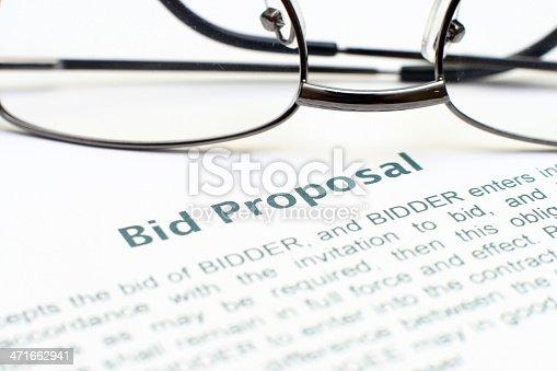 istock Bid proposal form 471662941