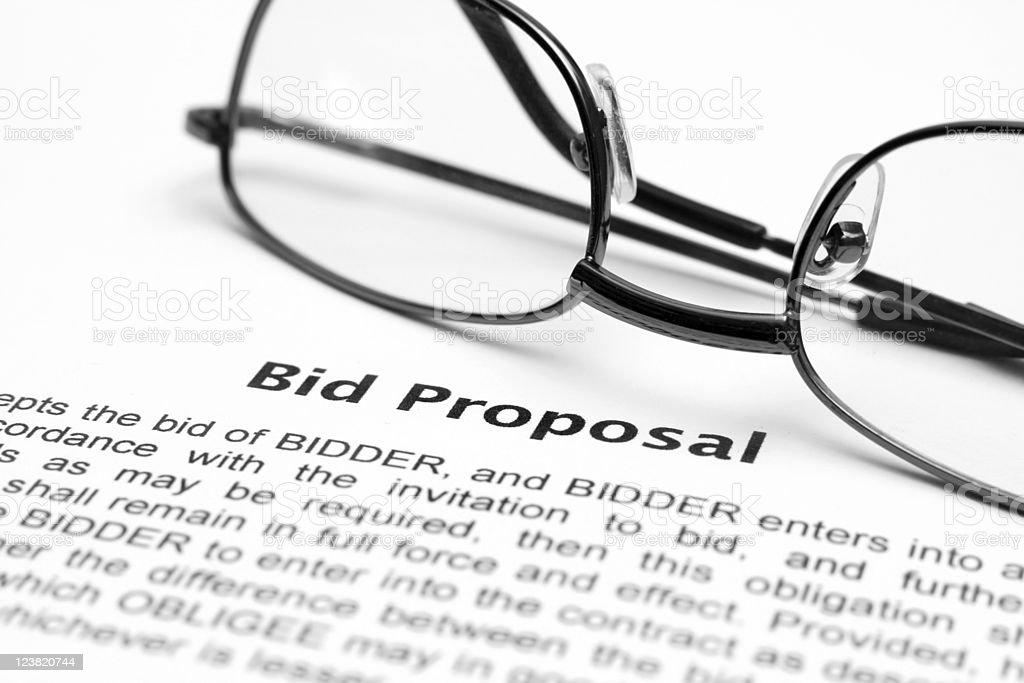 Bid proposal royalty-free stock photo