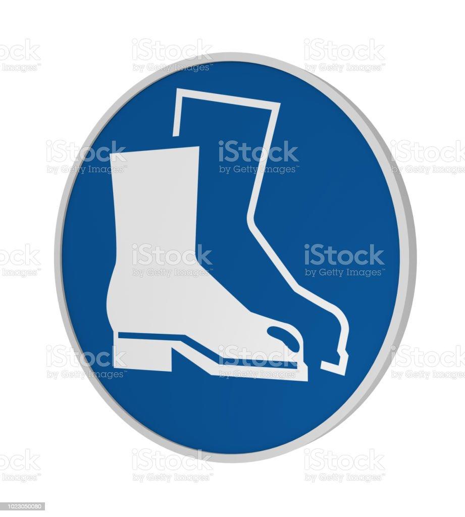 Gebotszeichen ASR a1. 3: Fußschutz benutzen – Foto