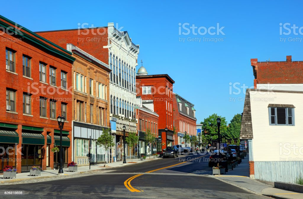 Biddeford, Maine stock photo