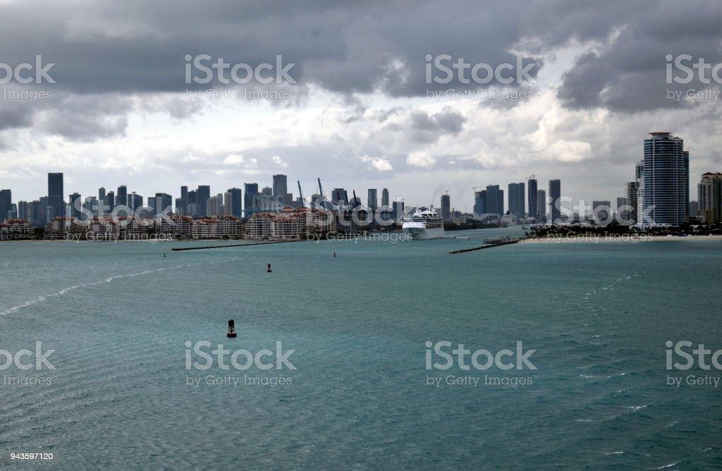 Bidding Adieu to Miami stock photo