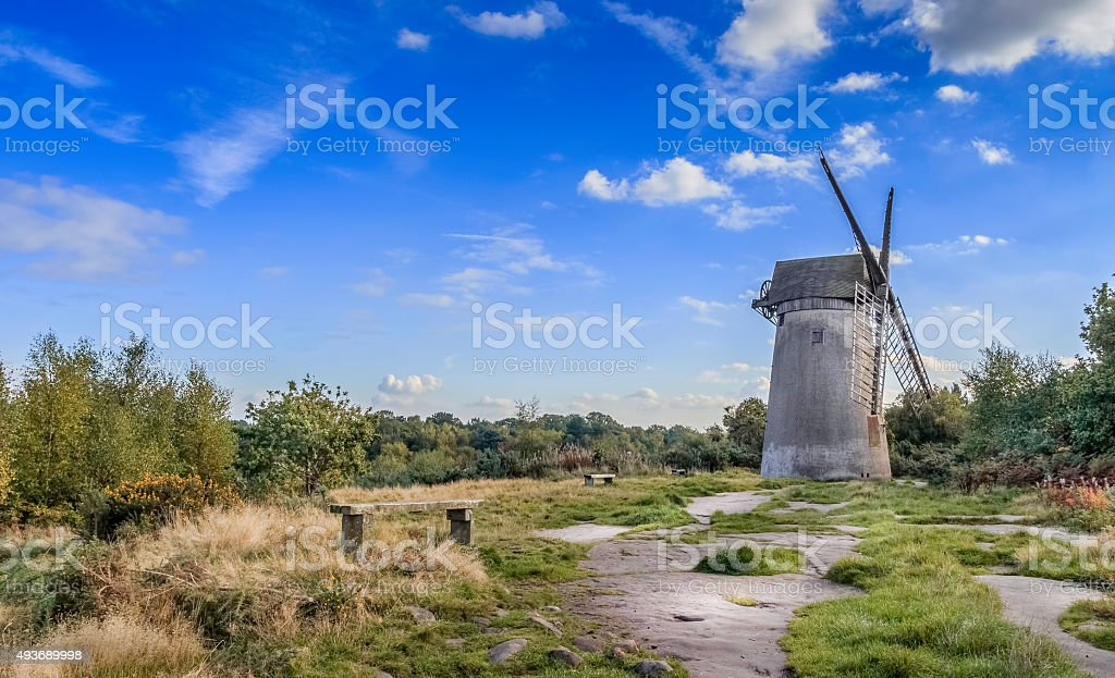 Bidston hill windmill in the uk. stock photo
