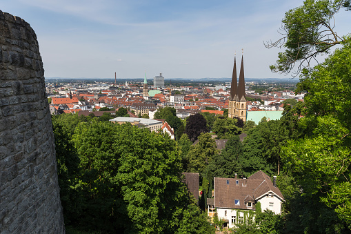 Bielefeld Cityscape Germany From Above Stock Photo - Download Image Now