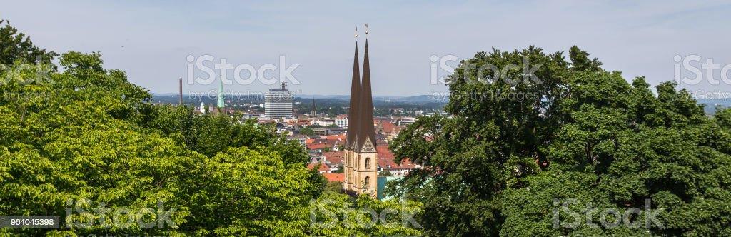 上からビーレ フェルト景観ドイツ - デトモルトのロイヤリティフリーストックフォト