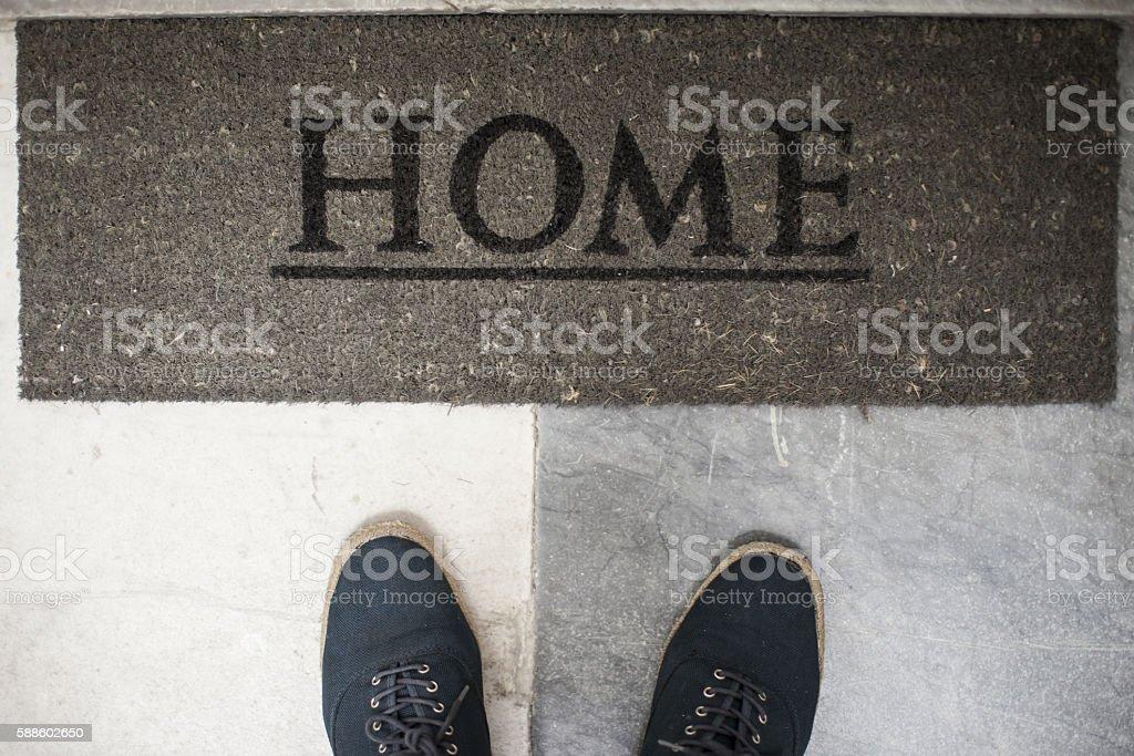 Bienvenido a Casa stock photo