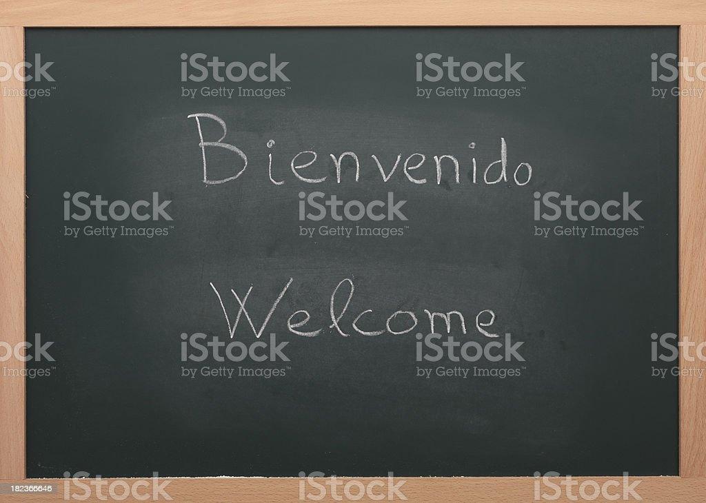 Bienvenido Welcome stock photo