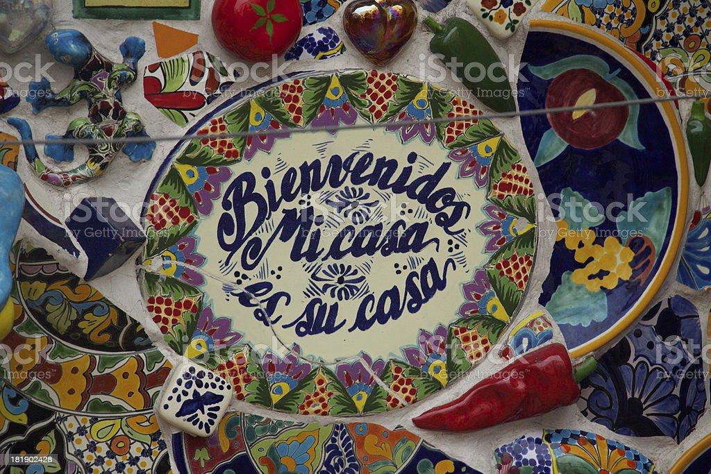 Bienvenidos stock photo