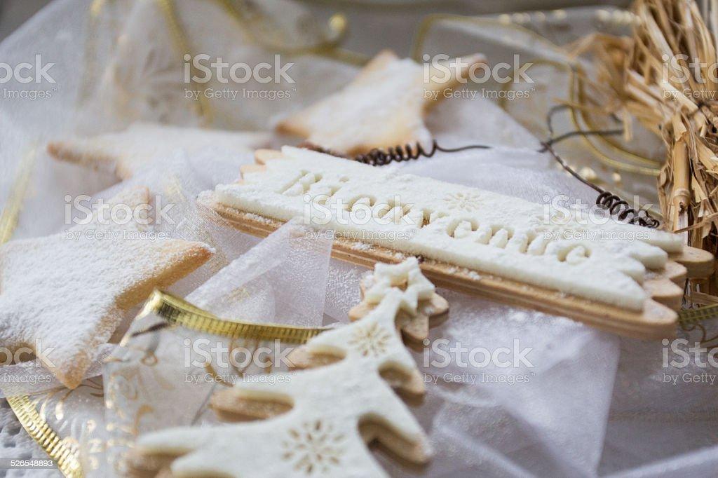 'Bienvenue' christmas. stock photo
