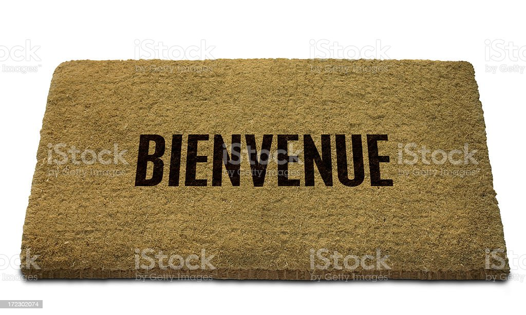 Bienvenue (French - Welcome) Doormat royalty-free stock photo
