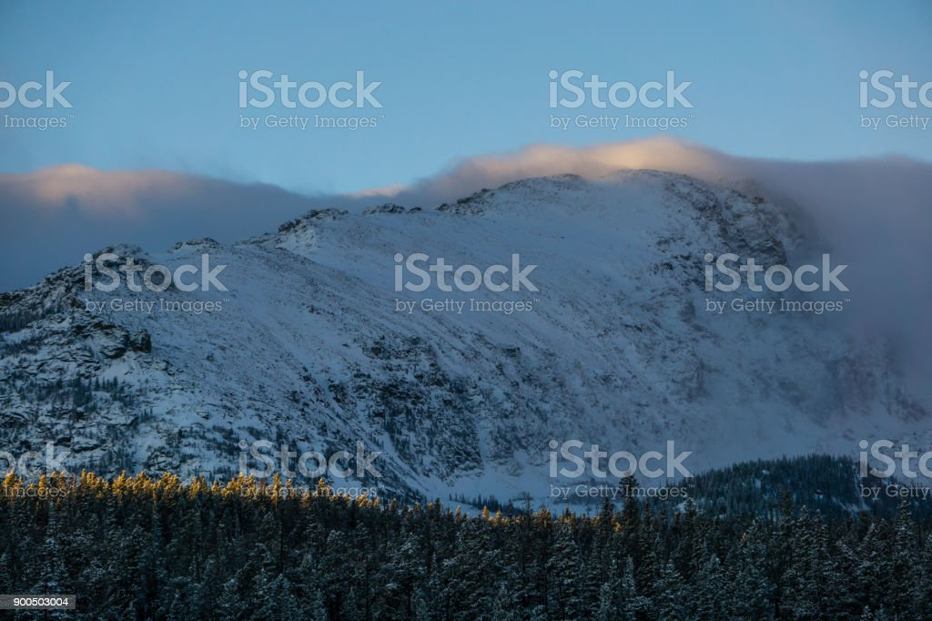 Bierstadt Lake - Rocky Mountain National Park stock photo