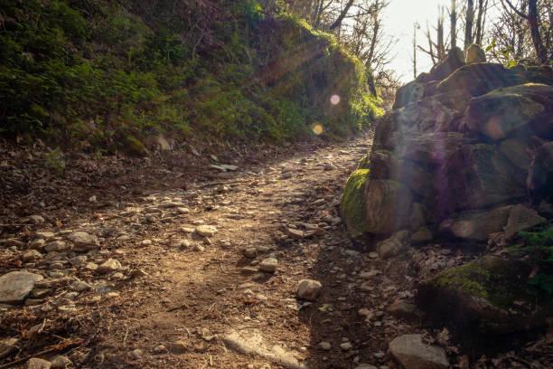 Bierzo Gebirge in Galizien - Anstieg nach La Faba - Jakobsweg Camino Frances – Foto