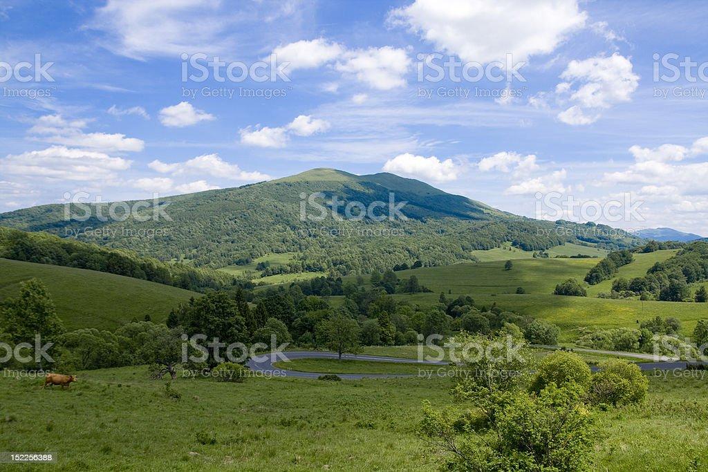 Bieszczady Mountains royalty-free stock photo
