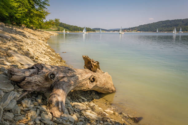 Bieszczady Mountains, Poland. Solina Lake. stock photo