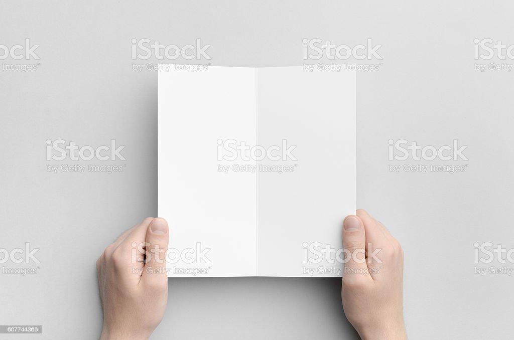 DL Bi-Fold Brochure Mock-Up stock photo