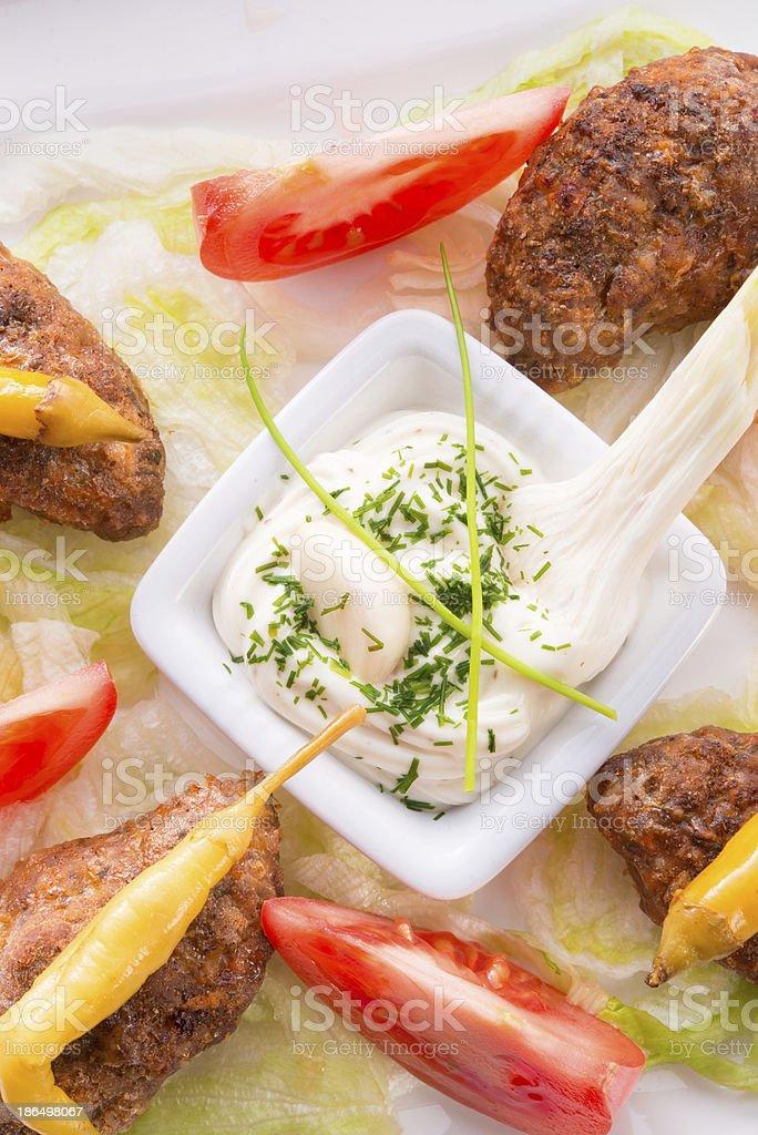 Bifteki royalty-free stock photo