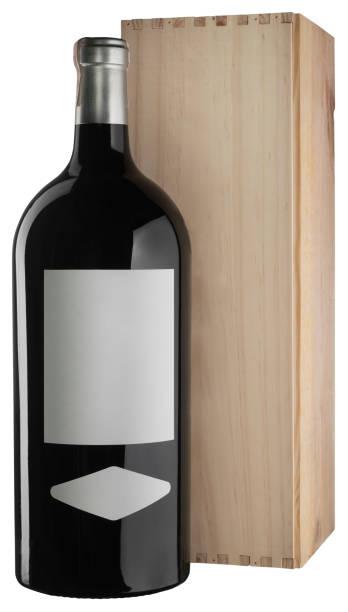 Big 5 liter unlabelled red wine bottle and wooden box isolated on picture id945627232?b=1&k=6&m=945627232&s=612x612&w=0&h=9j0qoqimim2j 2b6c90locr2jtj5vgovus s rjiw0c=