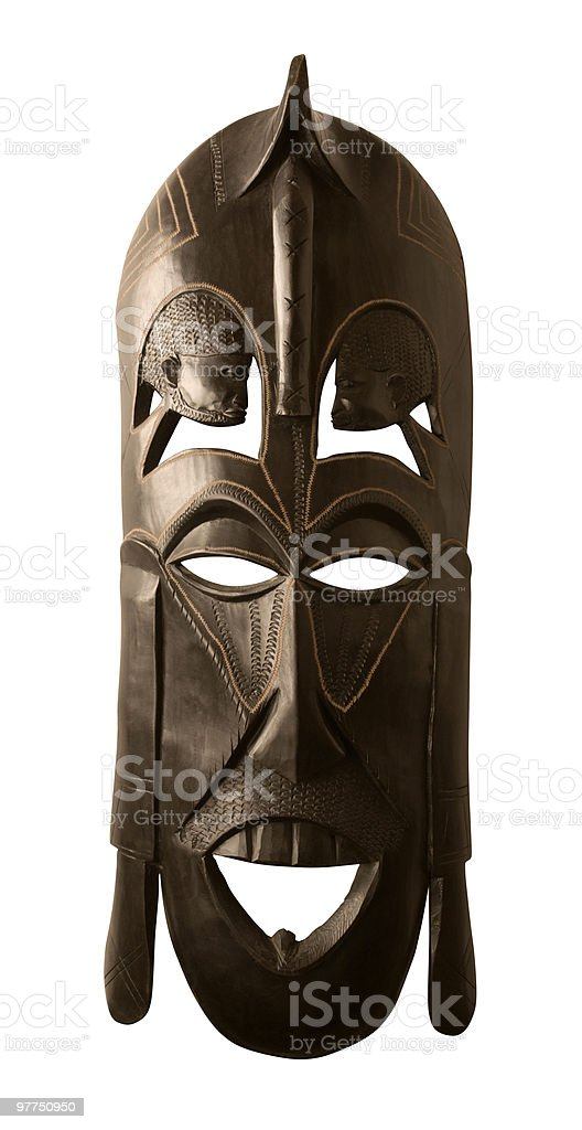 big african mask royalty-free stock photo