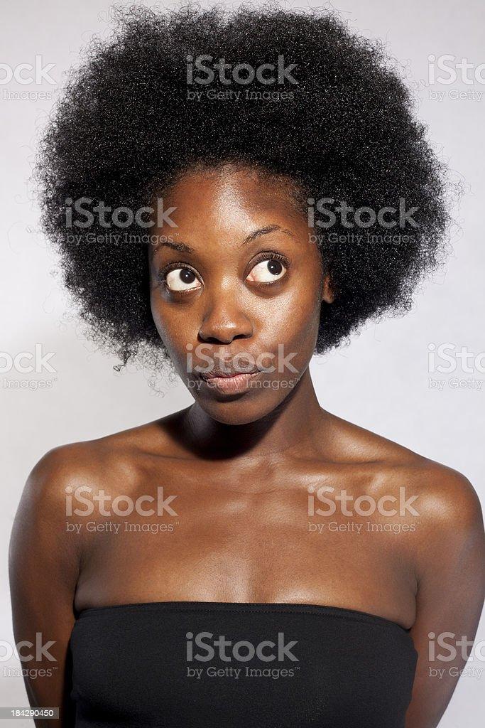 Big Afro stock photo