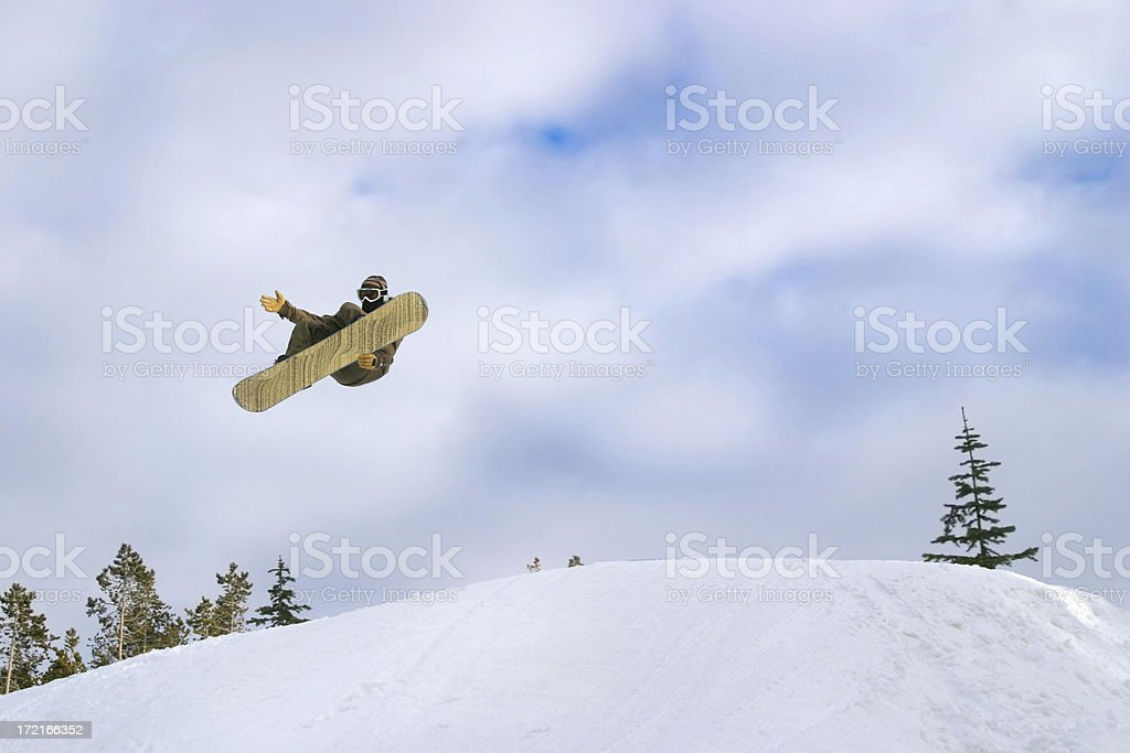 Big Air at the Terrain Park stock photo