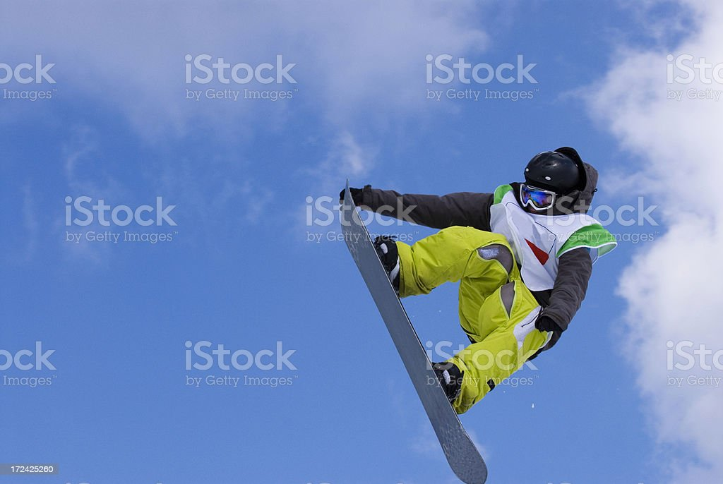 Big air competition stock photo