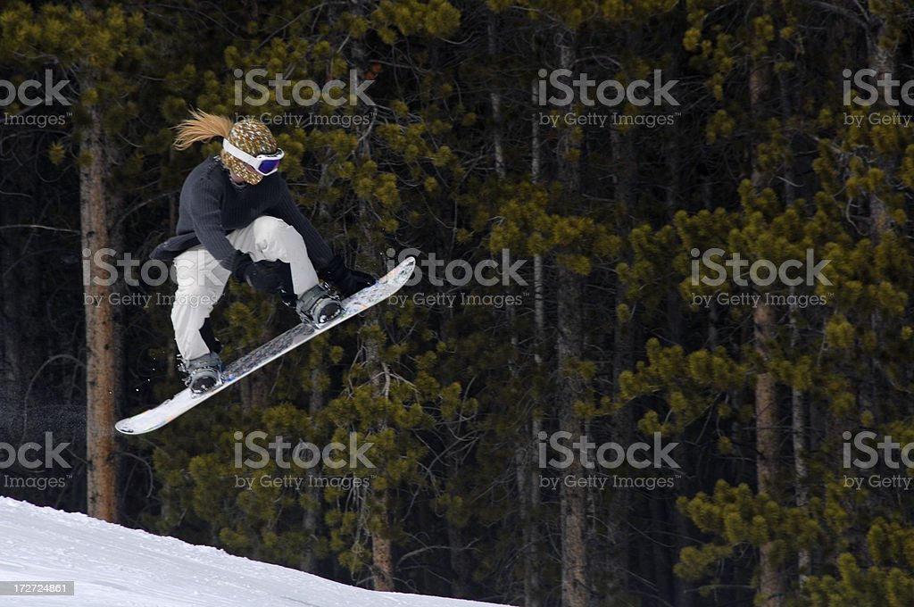 Big Air on a Snowboard royalty-free stock photo