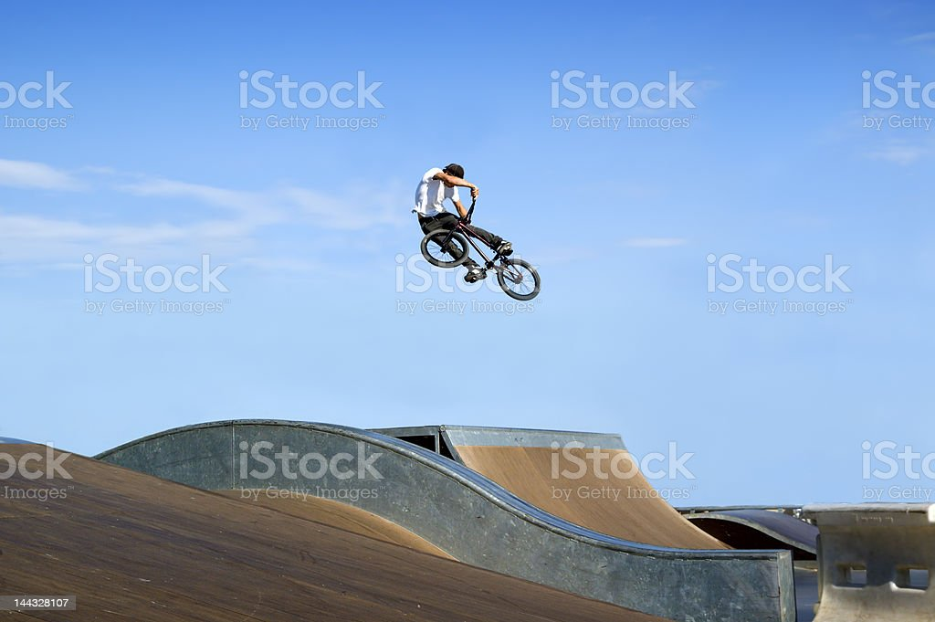 BMX Big air stock photo