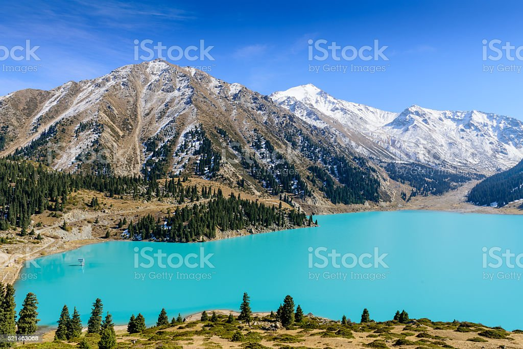 Big Almaty lake stock photo
