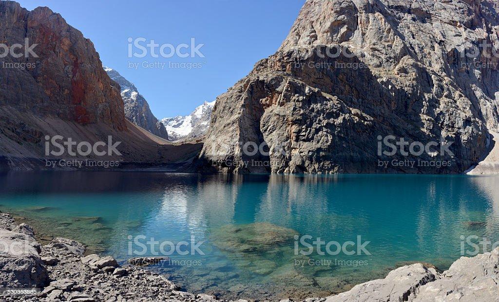 Big Alo lake - Middle Asia stock photo