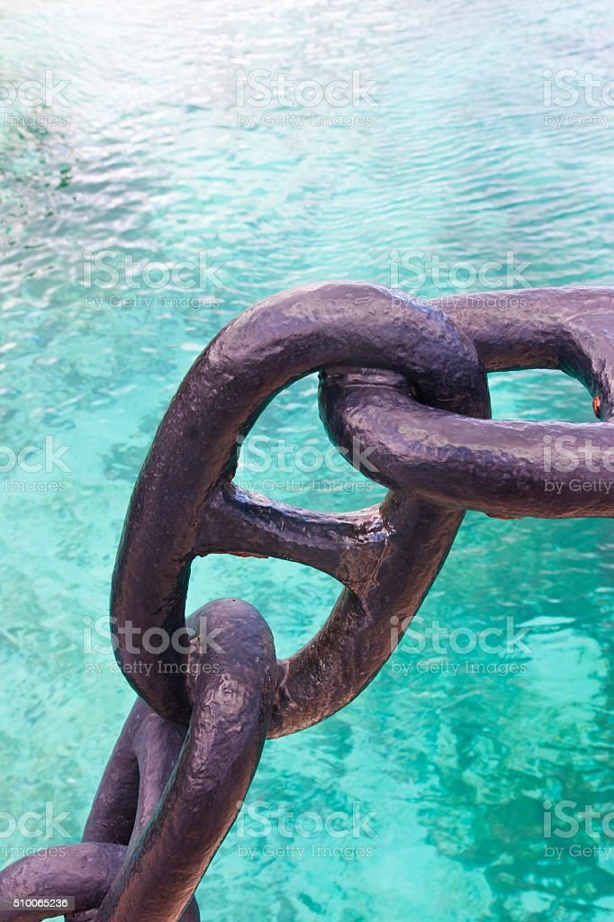 Big Anchor Chain stock photo