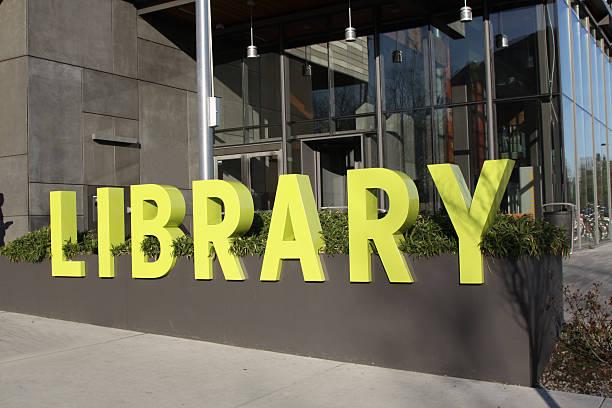 groß und auffällig bibliothek - - bibliothekschilder stock-fotos und bilder